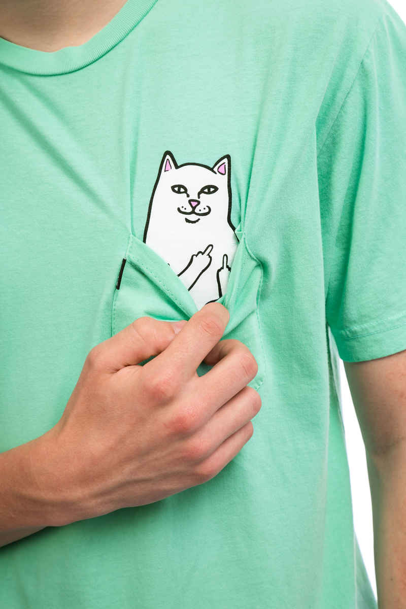 RIPNDIP Lord Nermal Pocket T-Shirt (over dyed mint)