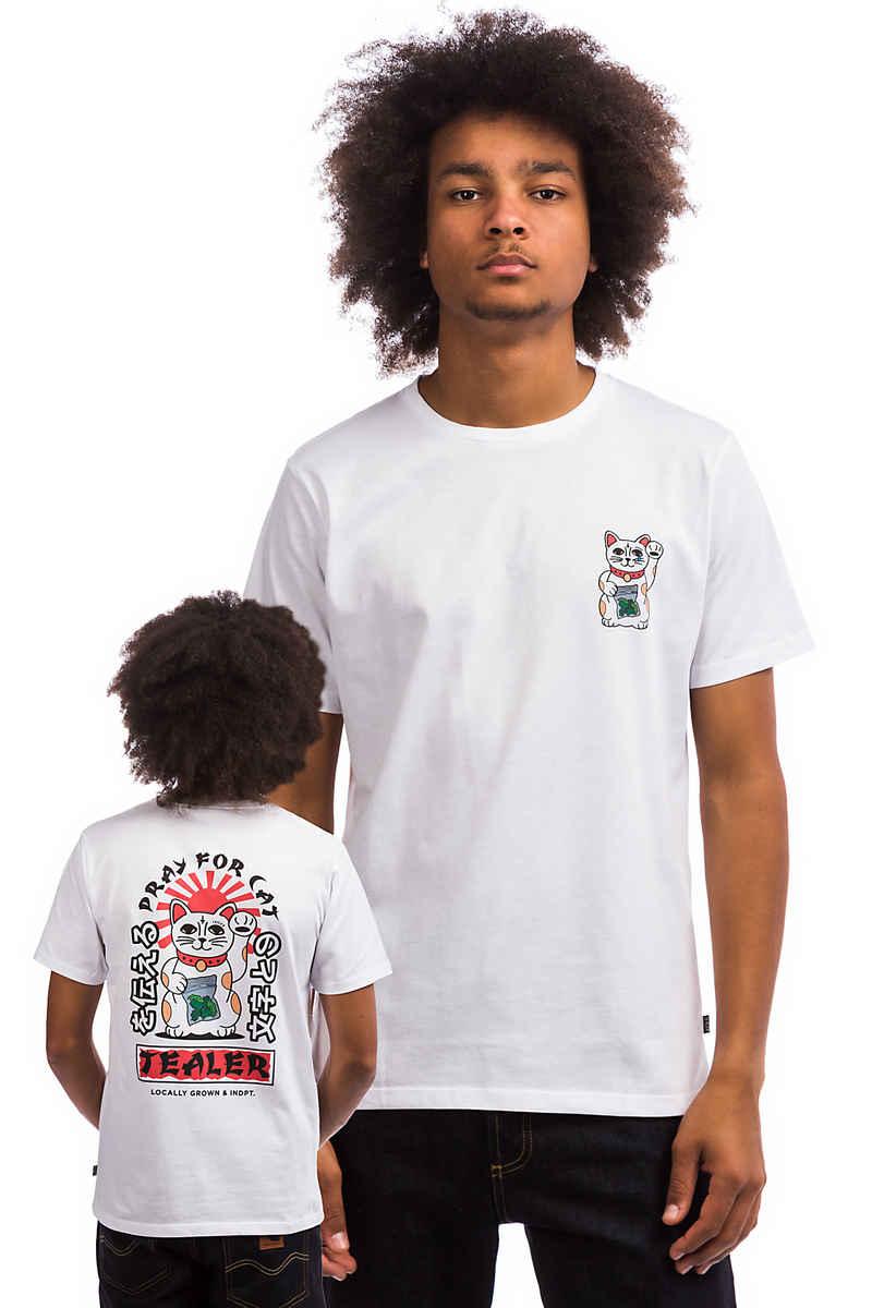 Tealer Pray For Cat T-Shirt (white)