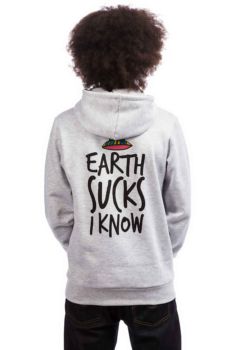 Tealer Earth Sucks Hoodie (grey)