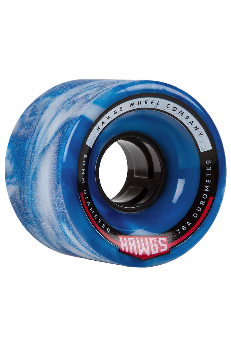 Hawgs Chubby Wheels (blue white swirl) 60mm 4 Pack 78A