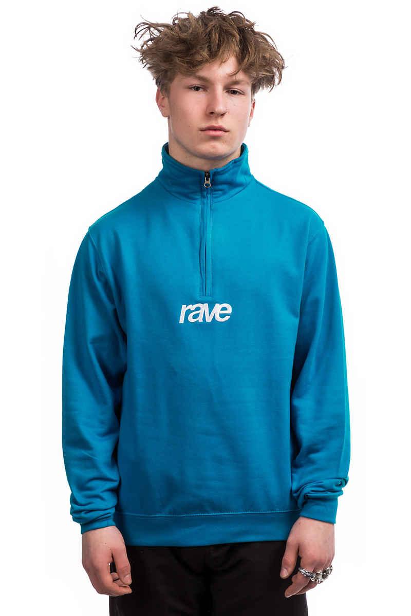 rave Classic Logo Quarter Zip Sweatshirt (sapphire blue white)