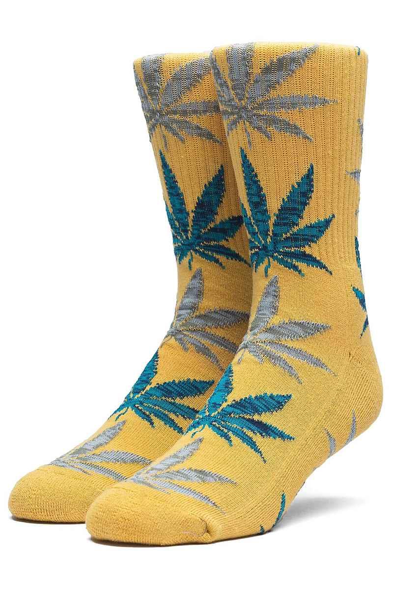 HUF Melange Leave Socks US 8-12 (honey mustard)