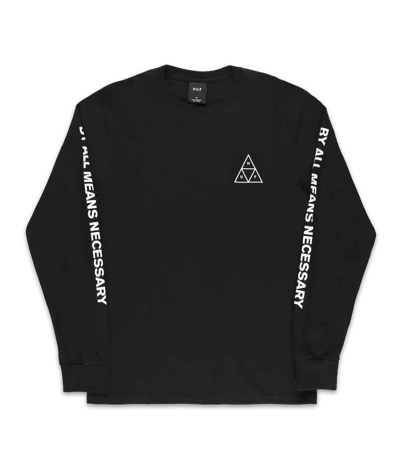 HUF Essentials TT Longsleeve (black)
