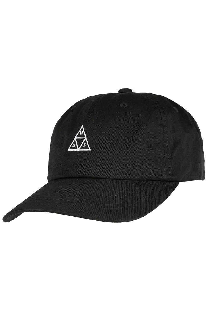 HUF TT Logo Curved Visor Cap (black)