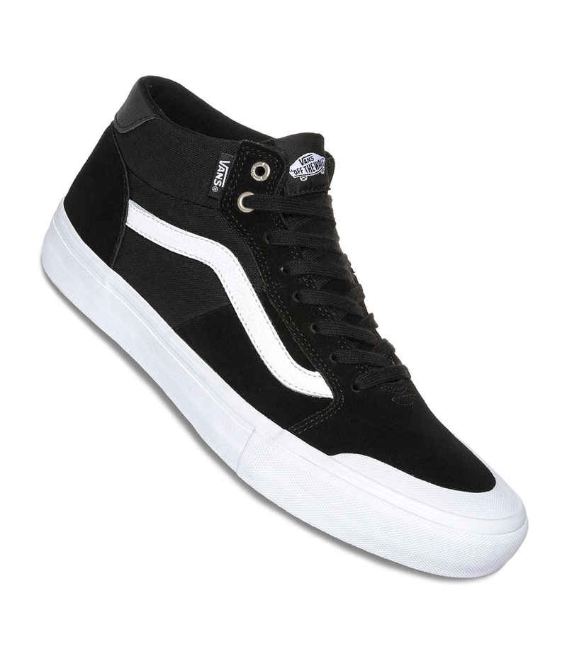 Vans Style 112 Mid Pro Shoes (black white) buy at skatedeluxe