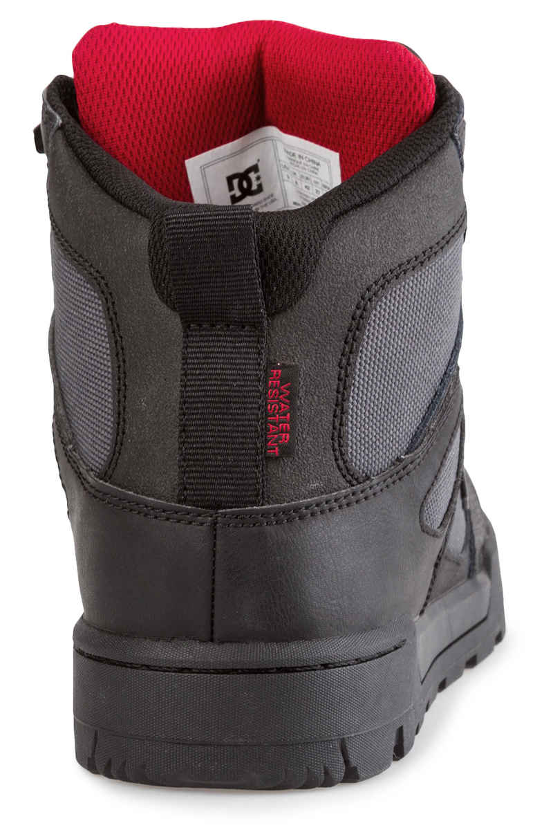 DC Pure High Top WR Boot Schoen (black grey red)
