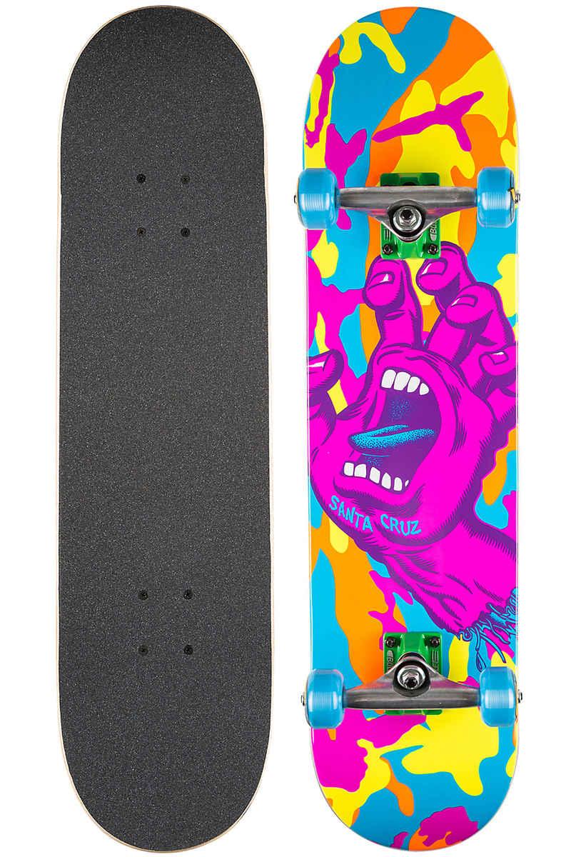 "Santa Cruz Screaming Hand Camo 7.75"" Complete-Board (purple)"