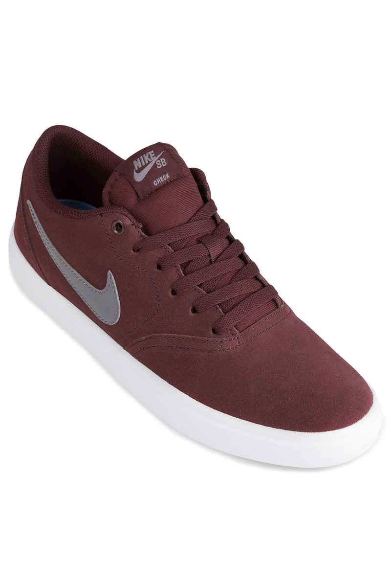 Nike SB Check Solarsoft Shoes (burgundy crush gunsmoke)