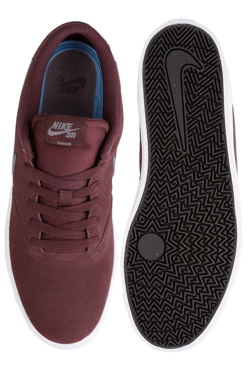 Nike SB Check Solarsoft Zapatilla (burgundy crush gunsmoke)