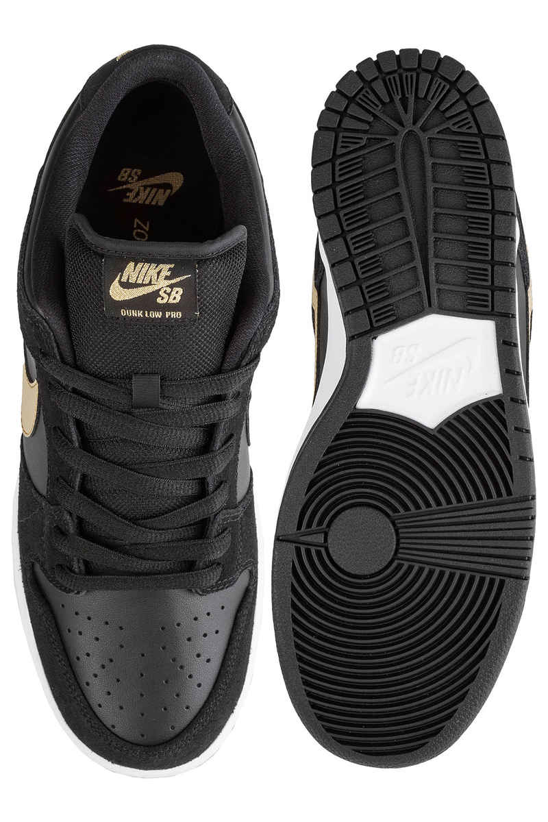 Nike SB Dunk Low Pro Schuh (black metallic gold)
