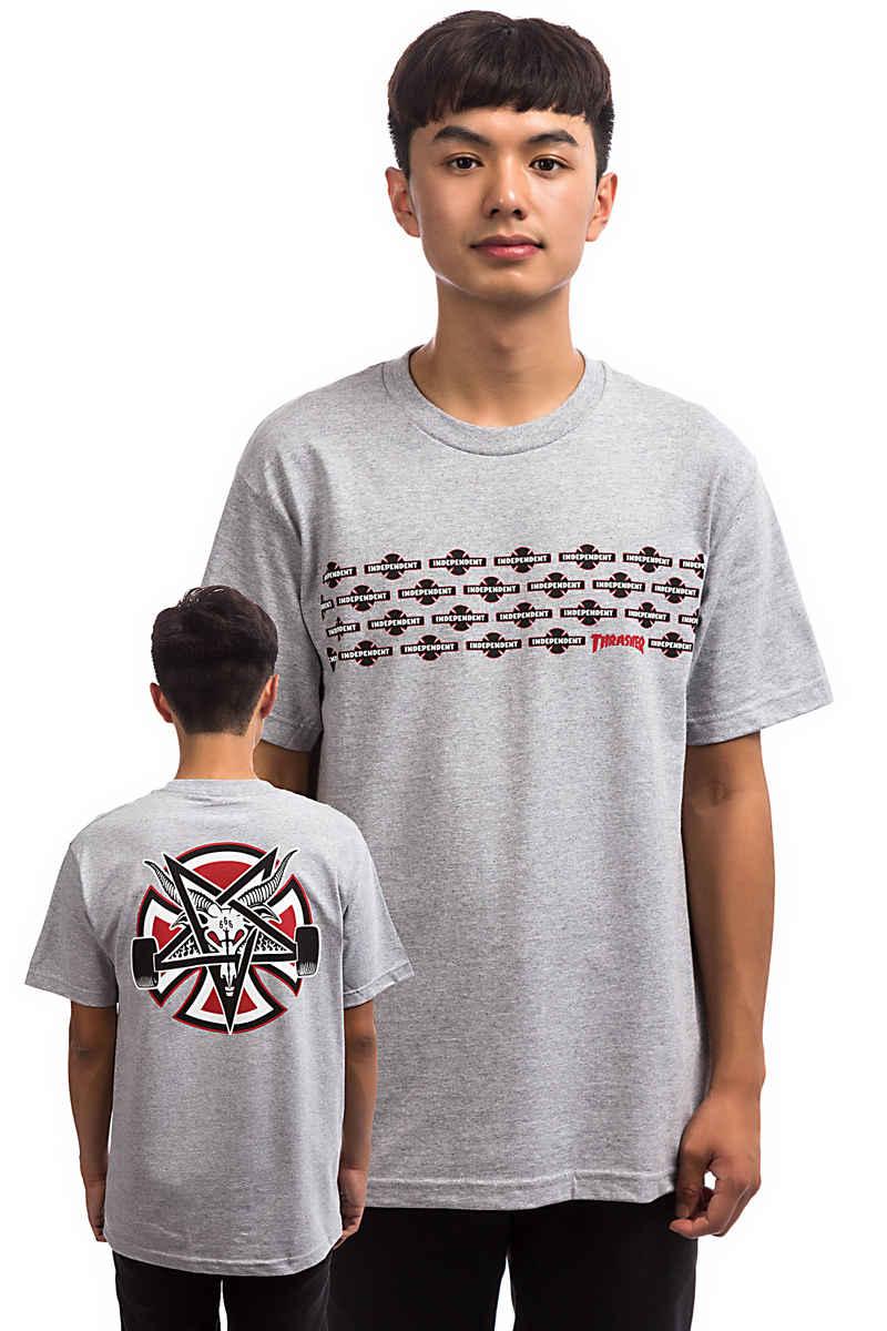 Independent x Thrasher Pentagram Cross T-Shirt (athletic heather)