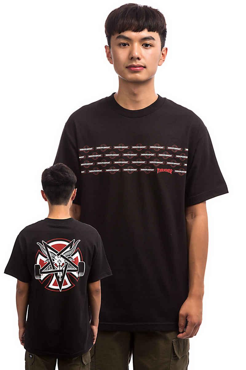 Independent x Thrasher Pentagram Cross T-Shirt (black)