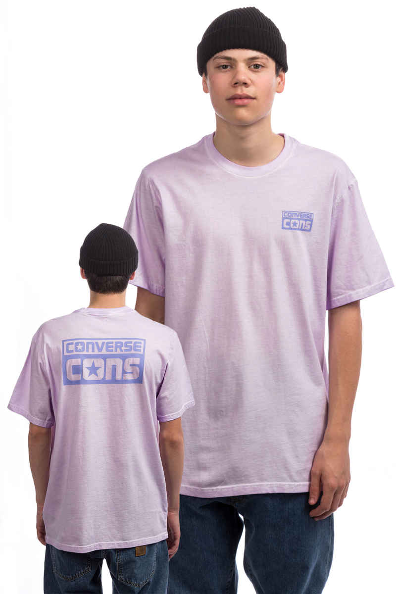 Converse CONS Logo Washed T-Shirt (twilight lavender tan)