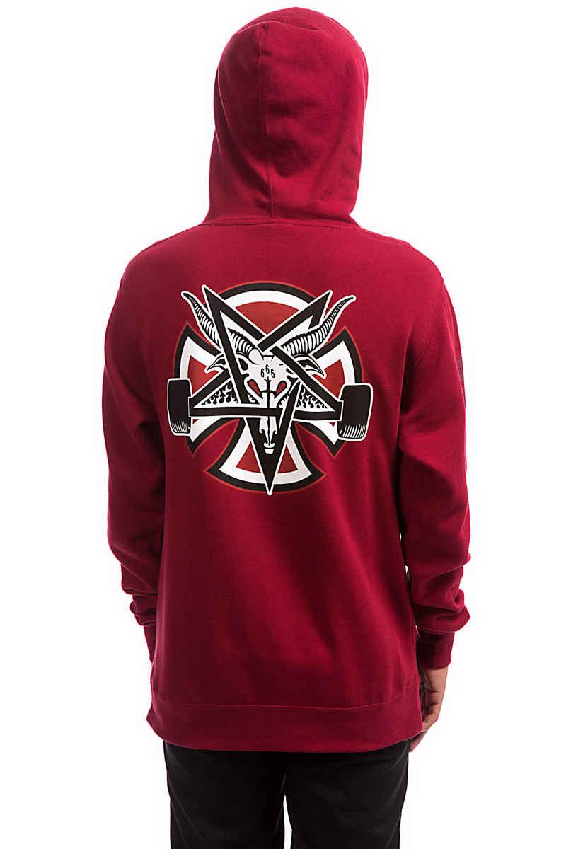 Independent x Thrasher Pentagram Cross Hoodie (garnet)