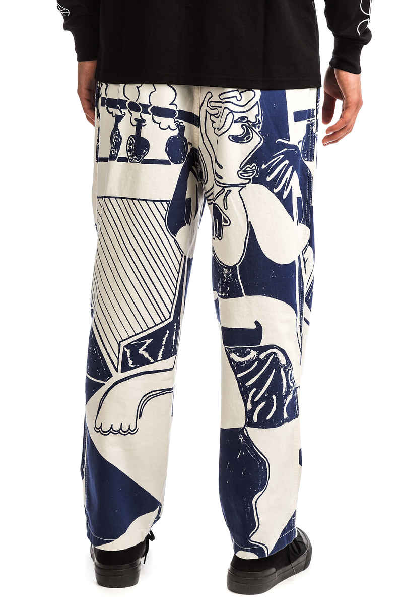 Polar Skateboards TK Surf Pantalons (ecru navy)