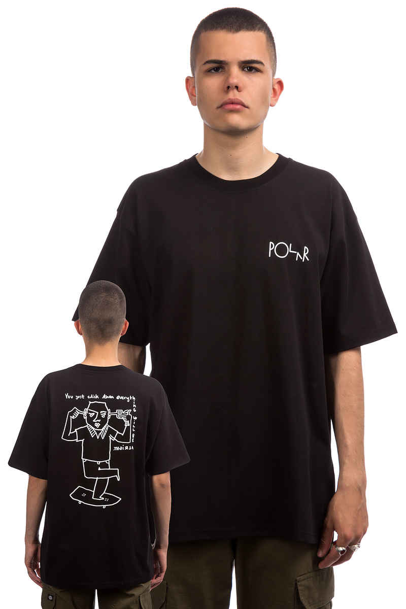Polar Skateboards Click T-Shirt (black)