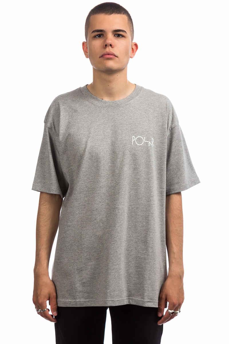 Polar Skateboards Script Logo T-Shirt (heather grey)