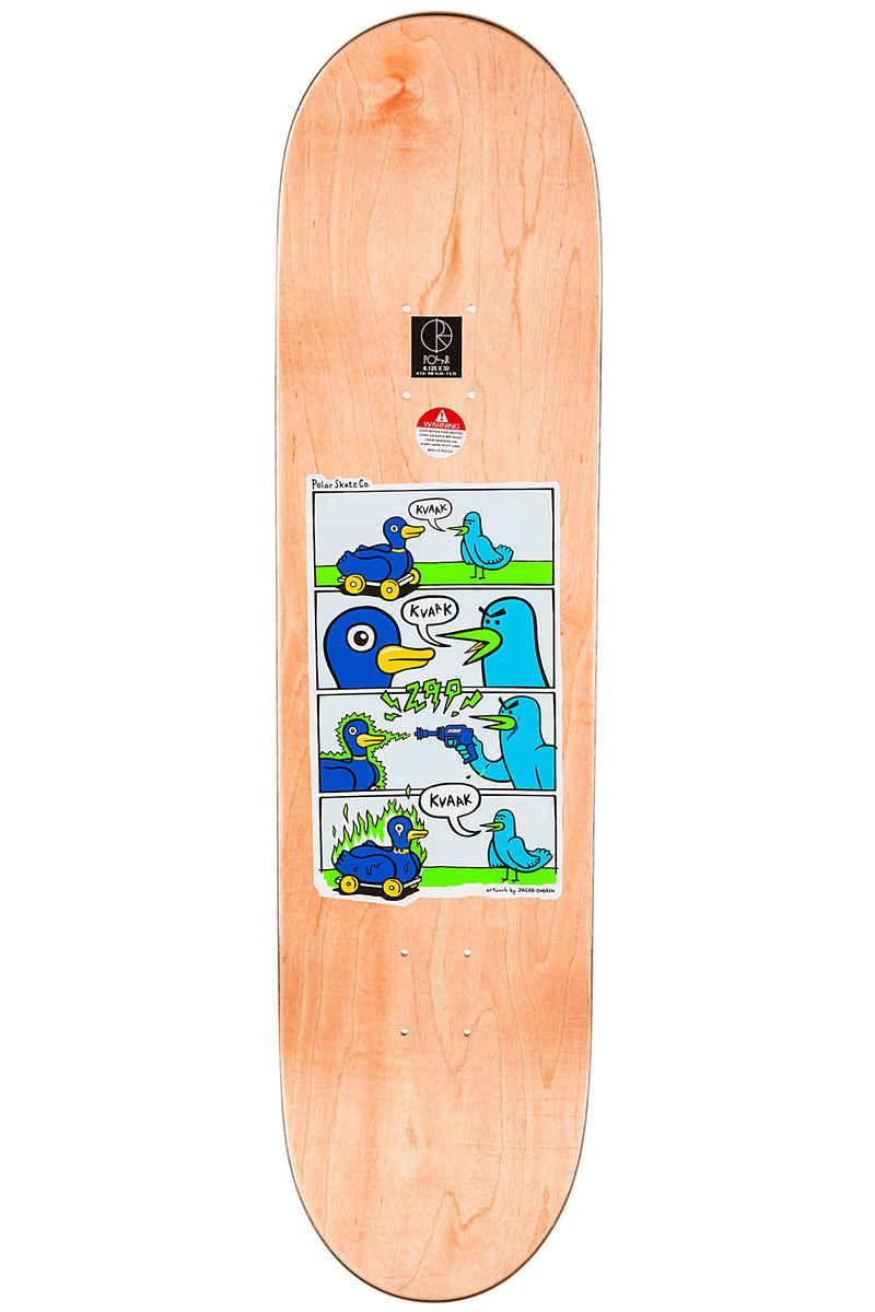 """Polar Skateboards Brady Kvaak Zap Kvaak 8.125"""" Deck (multi)"""