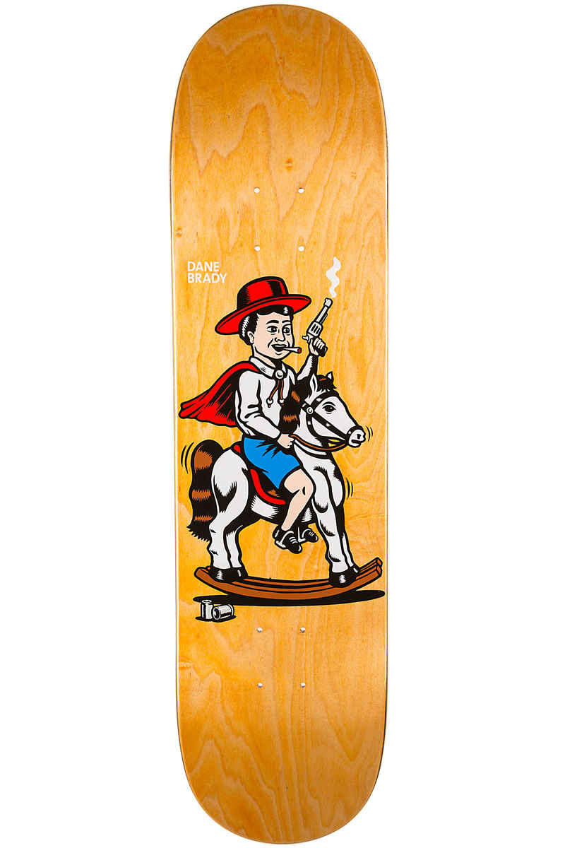 "Polar Skateboards Brady Cowboy 8"" Deck (yellow)"