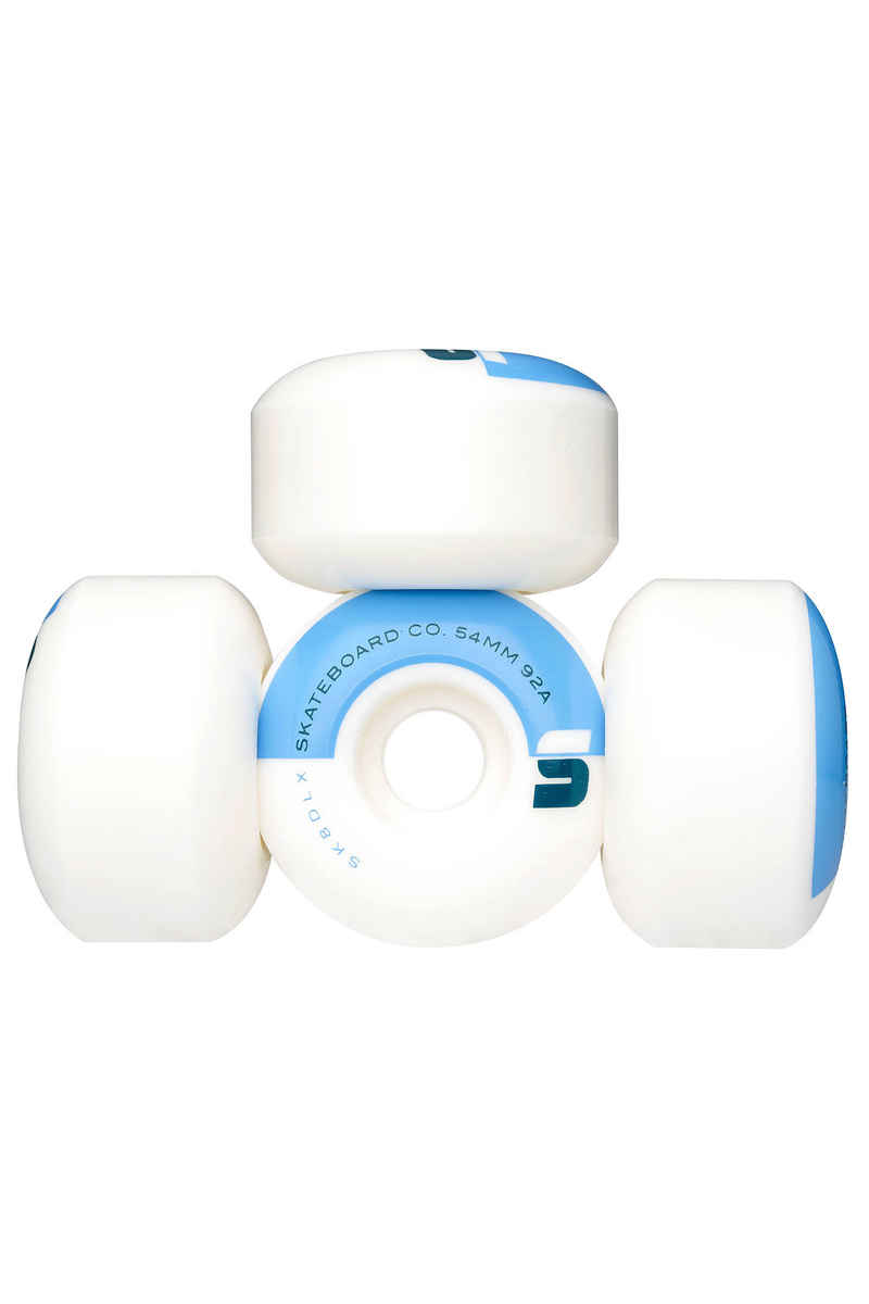 SK8DLX Athletic Soft Roue (white) 54mm 4 Pack 92A