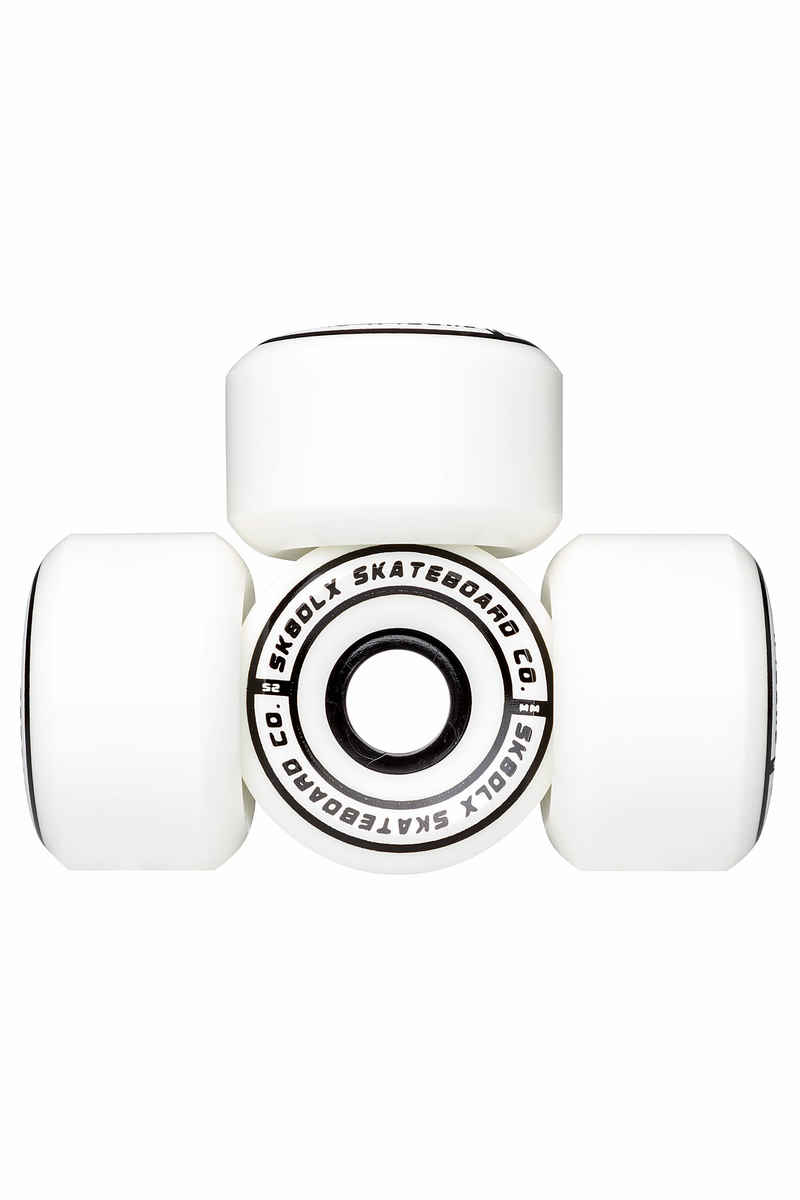 SK8DLX Conical Series Wheels (white) 52mm 100A 4 Pack