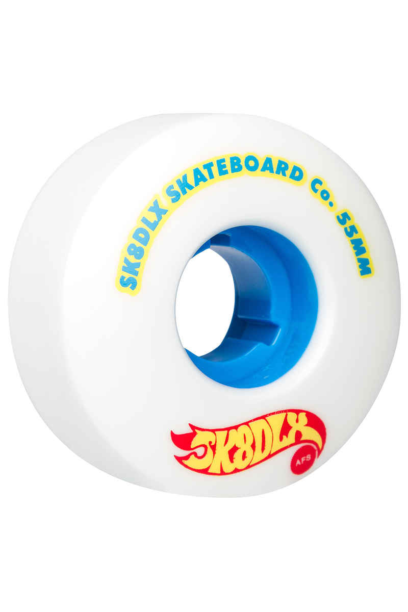 SK8DLX AFS Hotrod Series Wheels (white blue) 55mm 100A 4 Pack