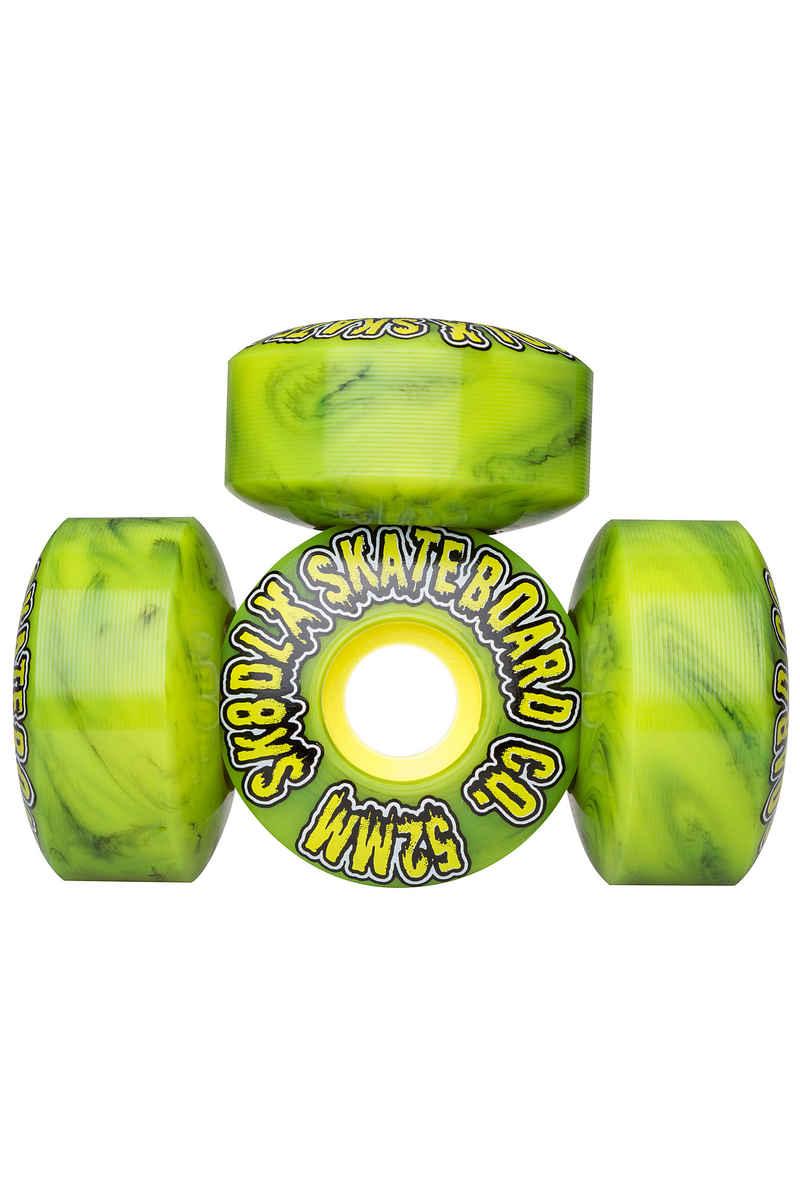 SK8DLX Slime Series Wheels (green black swirl) 52mm 100A 4 Pack