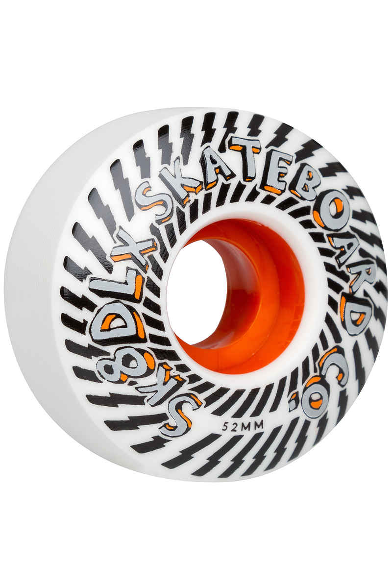 SK8DLX Psychedelic Series Wheels (white orange) 52mm 100A 4 Pack