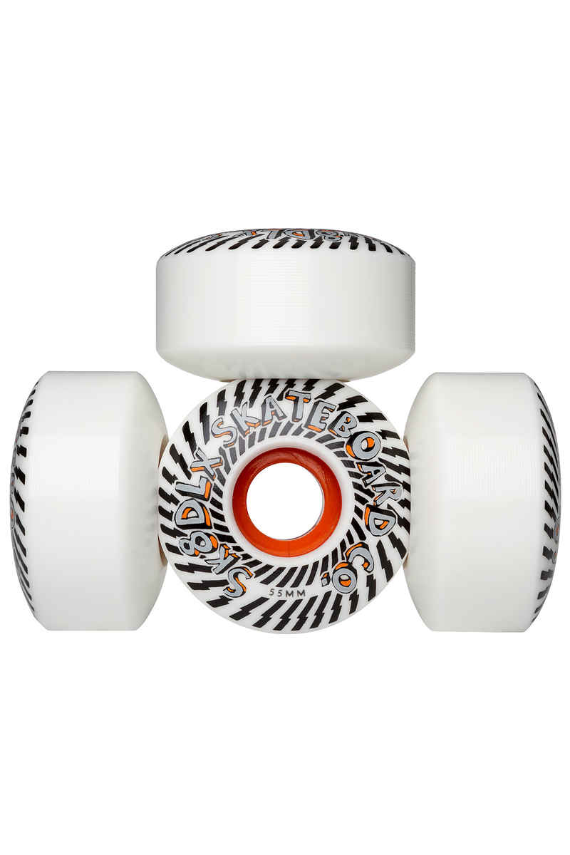 SK8DLX Psychedelic Series Wheels (white orange) 55mm 100A 4 Pack