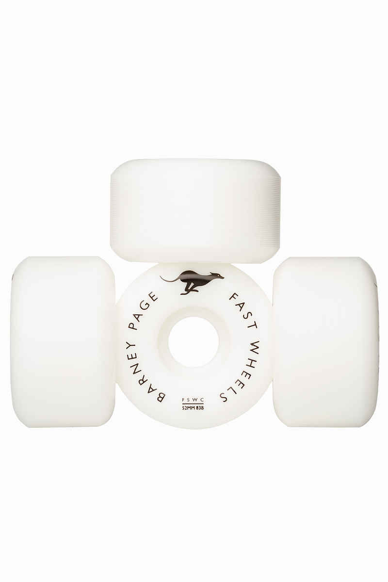 Fast Skateboard Wheel Company Page Pro Conical Rollen (white) 52mm 103A 4er Pack