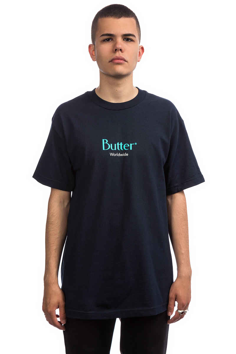 Butter Goods Classic Logo T-Shirt (navy)