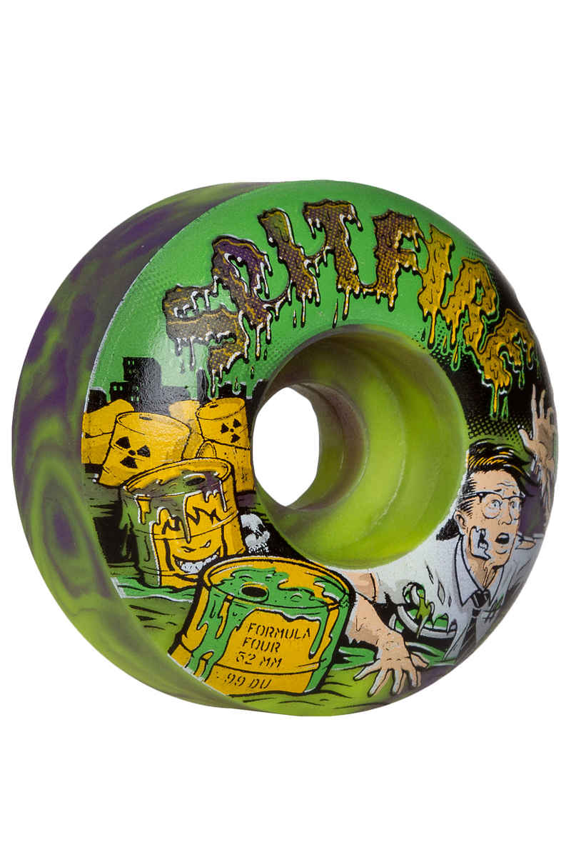 Spitfire Formula Four Afterburners Toxic Apocalypse Roue (purple green) 52mm 99A 4 Pack