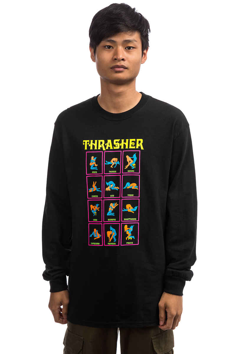 Thrasher Black Light Longsleeve (black)