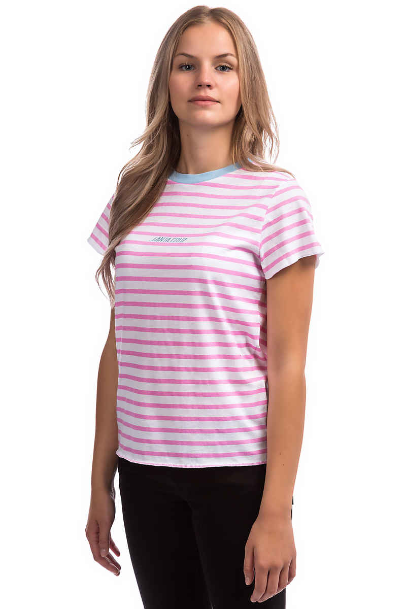 Santa Cruz Preppy T-Shirt women (pink white)