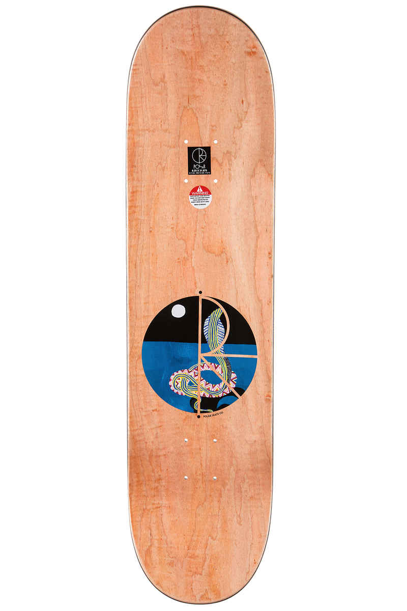 "Polar Skateboards Herrington Midnight Snake 8.25"" Deck (multi)"