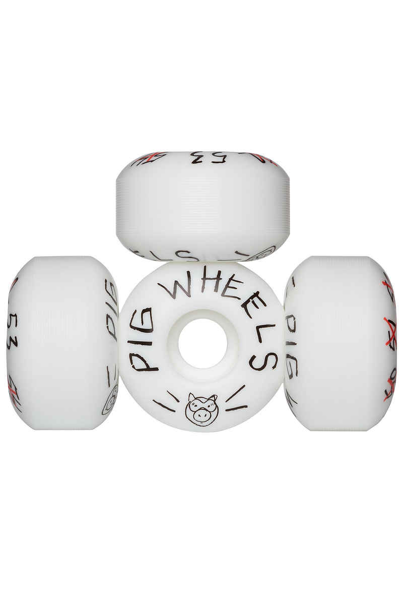 Pig Scribble Wiel (white) 53mm 101A 4 Pack