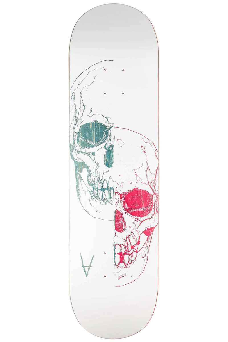 "Antiz Skateboards 2 Face 8.125"" Deck (white blue)"