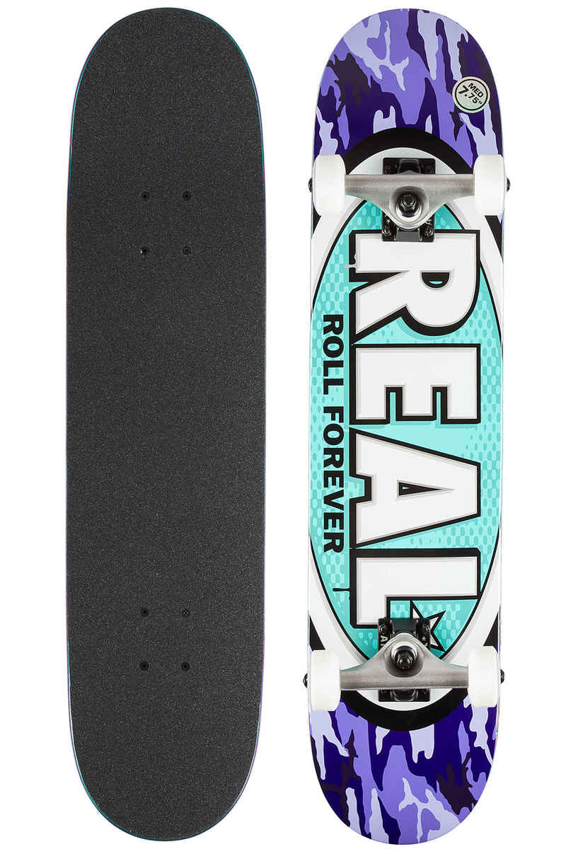 "Real Awol Ovals 7.75"" Complete-Skateboard (purple)"