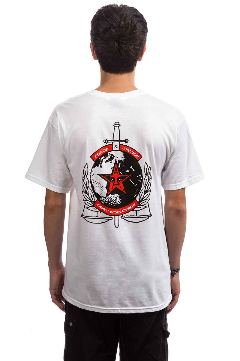 Obey Peace & Justice T-Shirt (white)