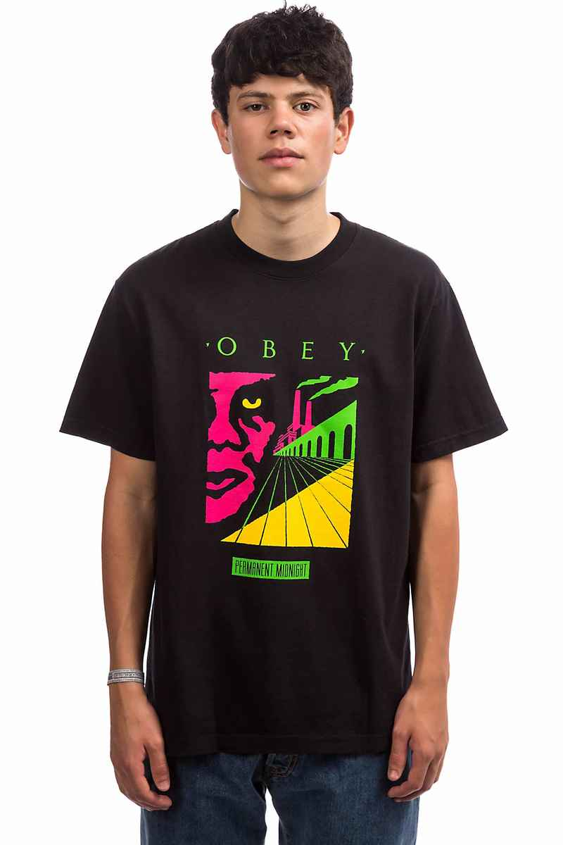 Obey Permanent Midnight T-Shirt (off black)