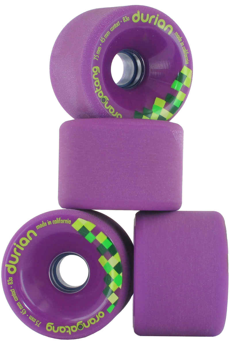Orangatang Durian 75mm 83A Wheels (purple) 4 Pack