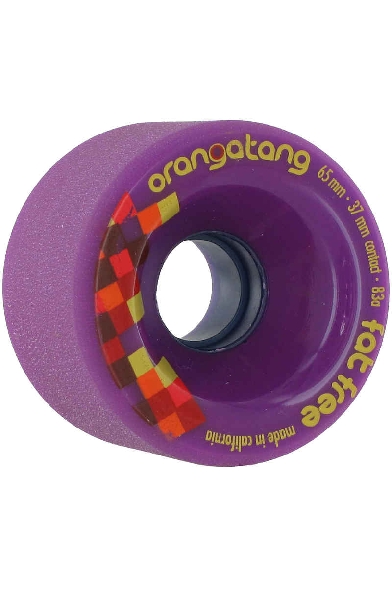 Orangatang Fat Free 65mm 83A Ruote (purple) pacco da 4