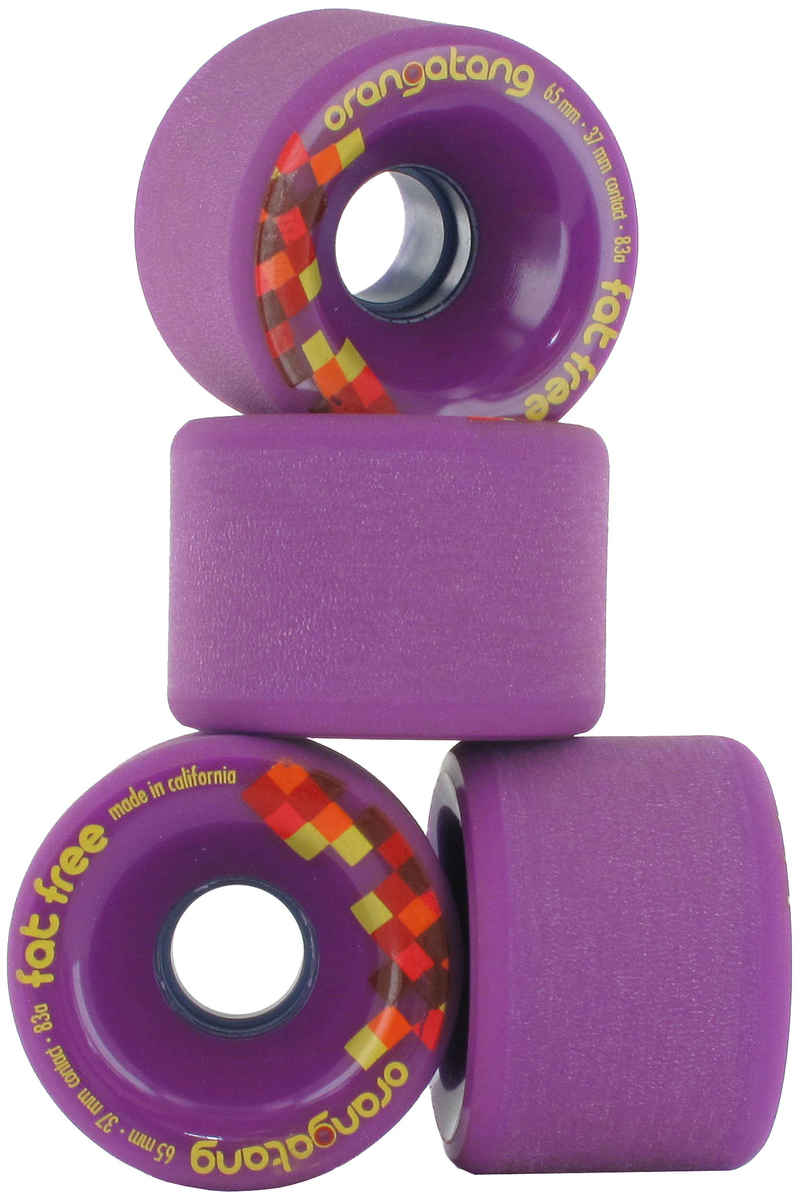 Orangatang Fat Free Wheels (purple) 83A 4 Pack 65mm