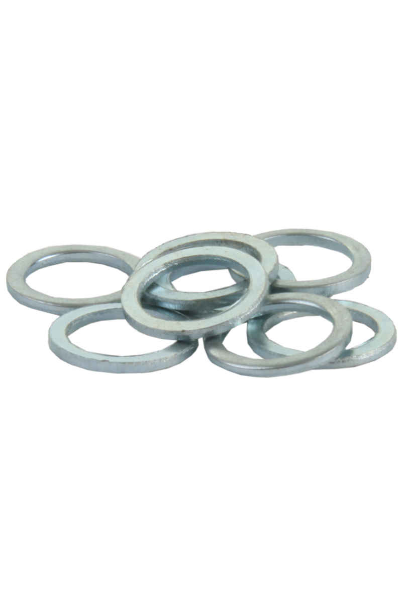 SK8DLX Standard 8mm Speedrings (silver) 8 Pack