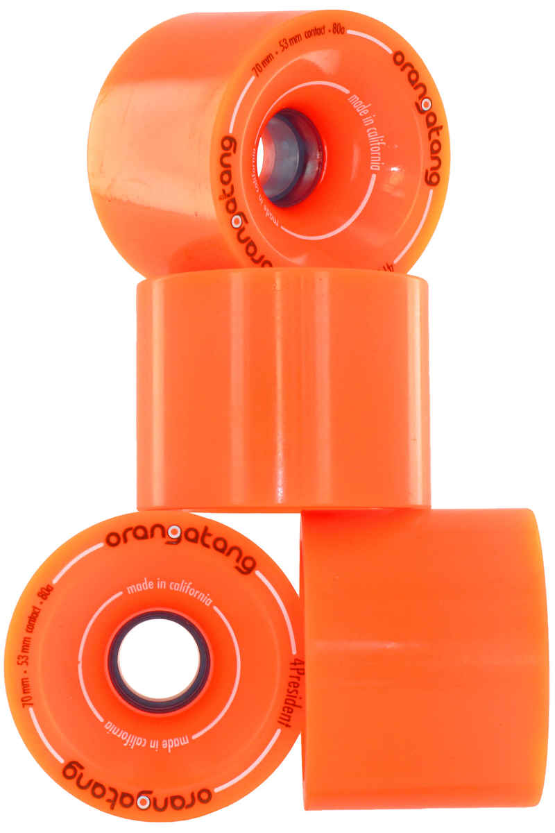 Orangatang 4President Wheels (orange) 4 Pack 70mm 80A