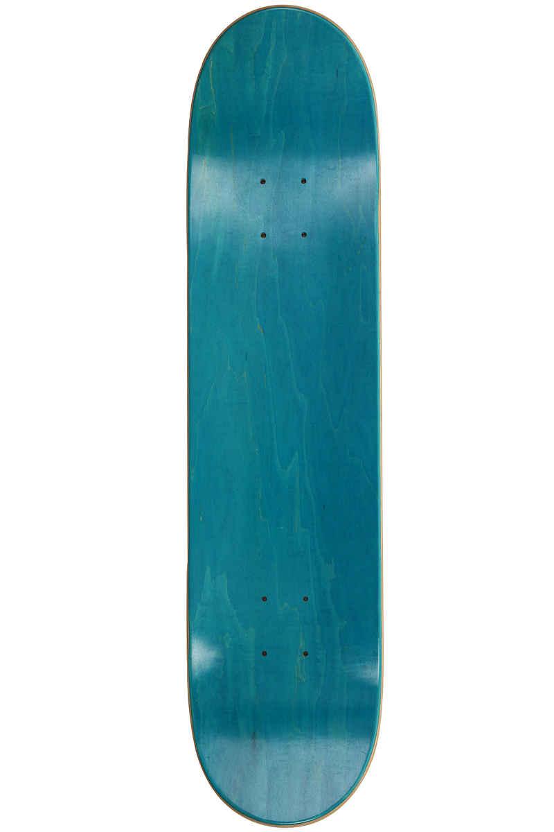 """MOB Skateboards Metal Skull 7.625"""" Deck (blue veneer)"""