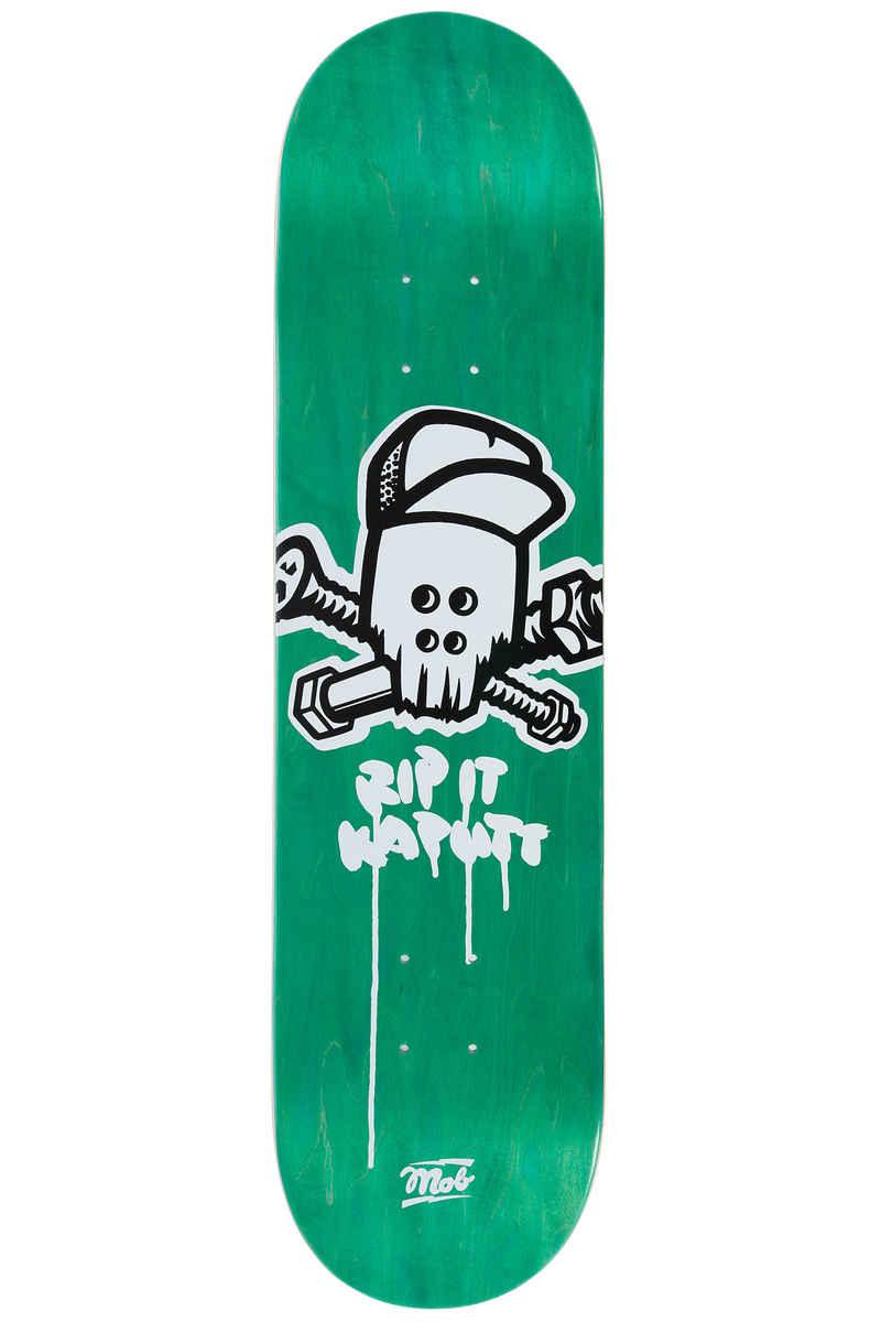 """MOB Skateboards Metal Skull 8"""" Deck (green veneer)"""