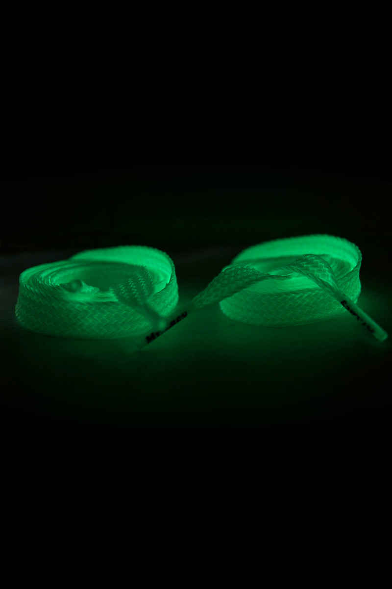 Mr. Lacy Flatties Glow In The Dark Laces (white green)