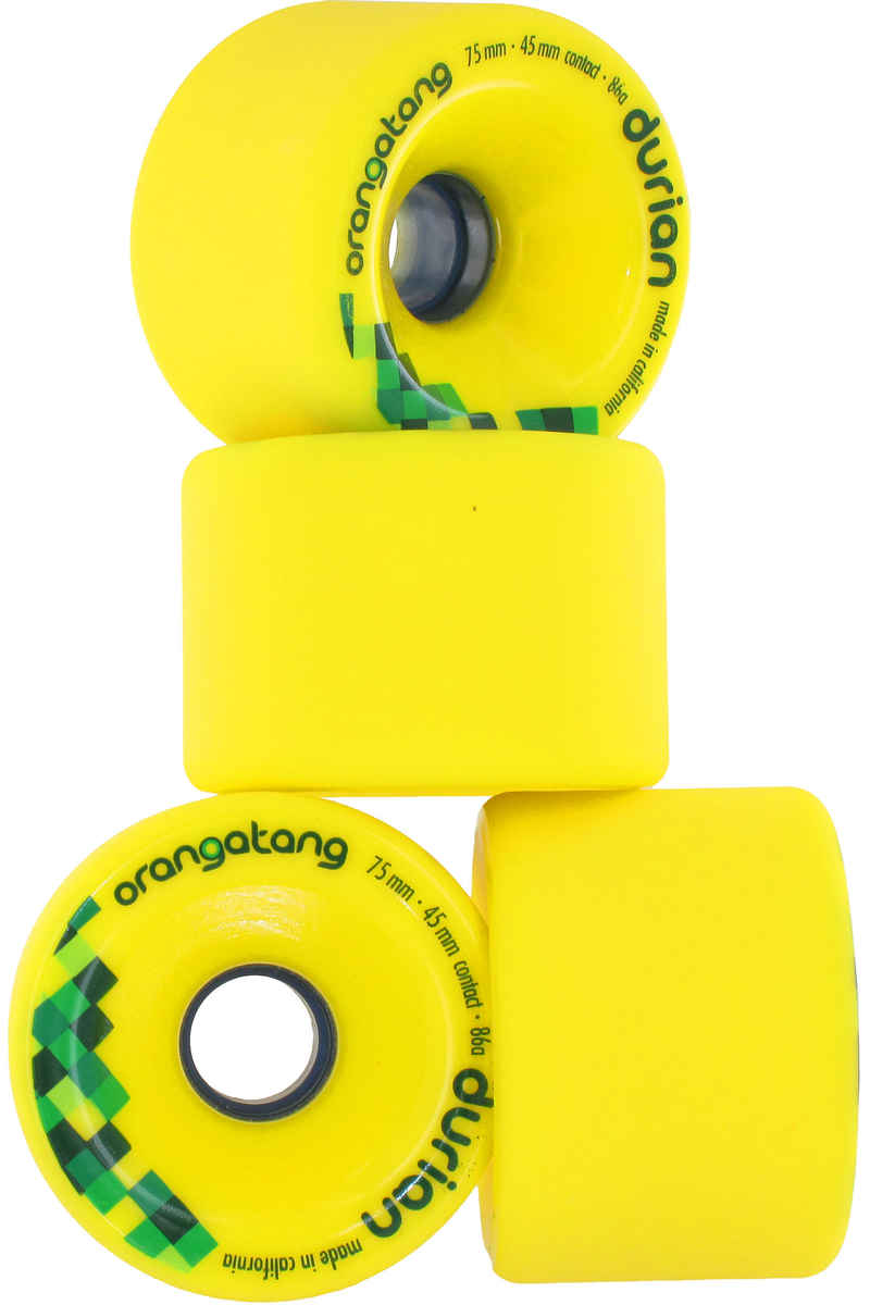 Orangatang Durian Rollen (yellow) 4er Pack 75mm 86A