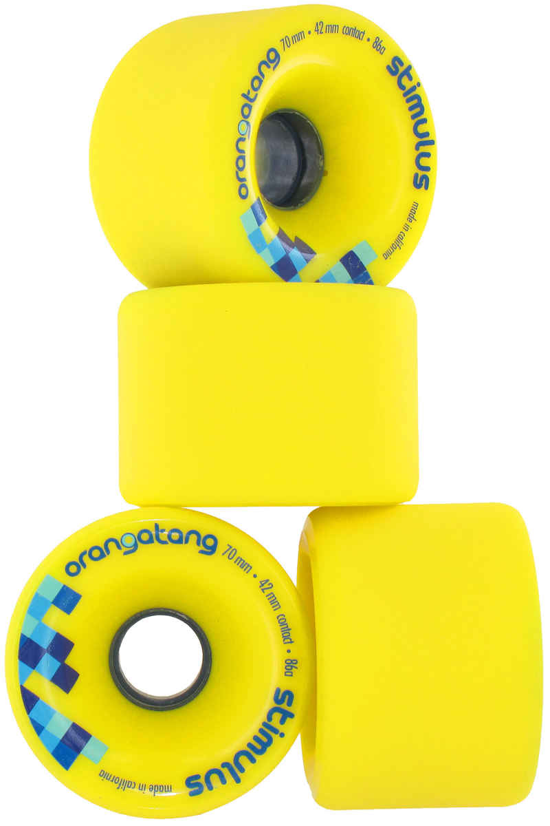 Orangatang Stimulus Wheels (yellow) 4 Pack 70mm 86A